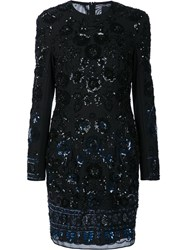 Needle And Thread Sequined Lace Overlay Fitted Dress Black