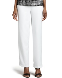 Caroline Rose Travel Straight Leg Pants White