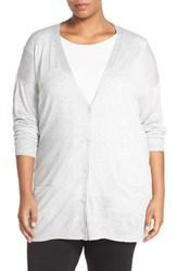 Halogenr Plus Size Women's Halogen Lightweight V Neck Cardigan