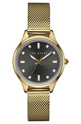 Ted Baker Women's London Round Mesh Strap Bracelet Watch 32Mm