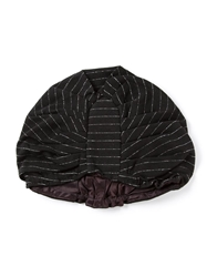 Biba Vintage Striped Turban Hat Black