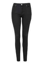 Topshop Tall Moto Washed Black Leigh