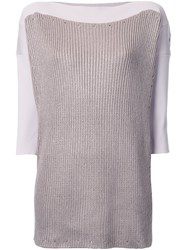 Theatre Products Boat Neck Rib Top Brown
