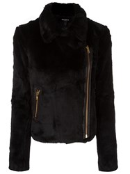 Muubaa Textured Biker Jacket Black