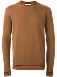 Givenchy Striped Trim Sweater Brown