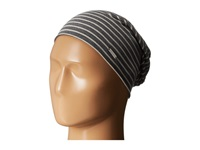 Steve Madden Acid Wash Thin Striped Beanie Black Beanies