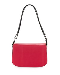 Cnc Costume National Flap Front Leather Shoulder Bag Red Costume National