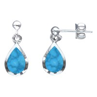 Nina B Teardrop Earrings Turquoise