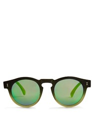 Illesteva Leonard Mirrored Sunglasses Green Multi