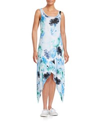 Marc New York Floral Asymmetrical Tank Dress Blue
