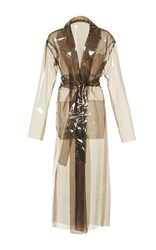 Isa Arfen Transparent Safari Coat Brown