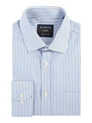 Howick Bennington Bengal Stripe Shirt Blue