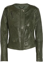 Muubaa Ramu Leather Jacket Green
