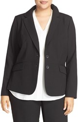 Sejour Plus Size Women's 'Ela' Two Button Stretch Suit Jacket