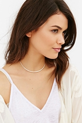 Kara Yoo Single Cuff Choker Necklace Silver