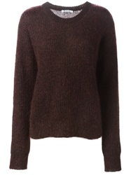 T By Alexander Wang Ribbed Knit Sweater Pink And Purple