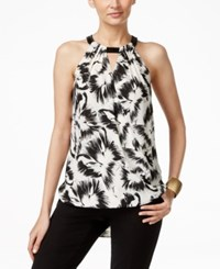 Alfani Embellished Surplice Halter Top Only At Macy's Black White