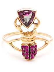 Daniela Villegas 18Kt Yellow Gold Sapphire And Tourmaline Ring