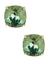 Candela Ernite Swarovski Crystal Stud Earrings Green