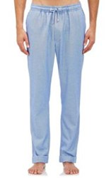 Barneys New York Flannel Pajama Pants Blue