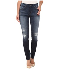 Miraclebody Jeans Rikki Rip Repaired Jeans In Brighton Blue Brighton Blue Women's Jeans