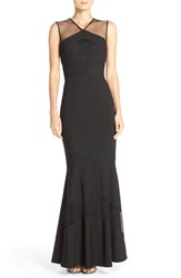 Js Collections Women's Ottoman Mermaid Gown Black