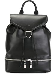 Alexander Mcqueen Zipped Backpack Black