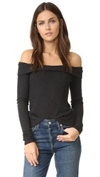 Feel The Piece Lindsey Knit Ribbed Sweater Charcoal