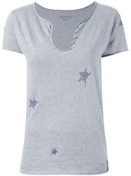 Zadig And Voltaire 'Tunisien Mc Stars' T Shirt