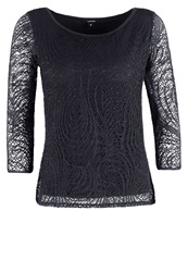 Comma Long Sleeved Top Tinte Dark Blue