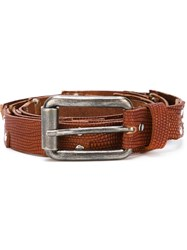 Al Duca Da Aosta 1902 Studded Belt Brown