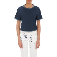 Simon Miller Women's Mesa Crop Top Blue Navy Blue Navy