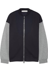 Stella Mccartney Cotton Blend Bomber Jacket Midnight Blue