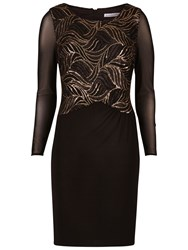 Gina Bacconi Jersey Dress With Sequin Bodice Black