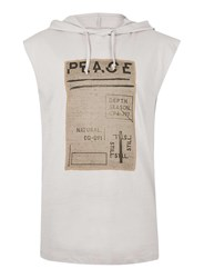 Topman Brown Peace Overhead Tank Top