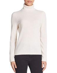 Lord And Taylor Cashmere Turtleneck Sweater Ivory