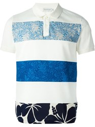 Moncler Floral Polo Shirt White