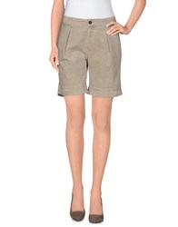 Ekle' Trousers Shorts Women Beige