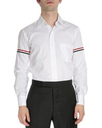 Thom Browne Classic Button Down Shirt With Stripes White Men's