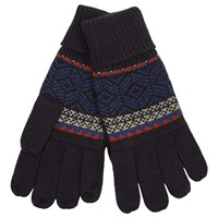 John Lewis Knitted Fairisle Gloves Navy
