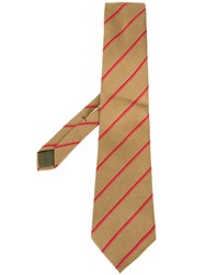 Versace Vintage Striped Tie Green