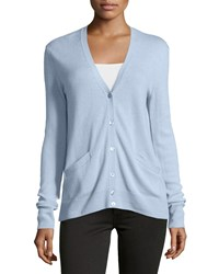 Equipment Sullivan Cashmere V Neck Cardigan Periwinkle Purple