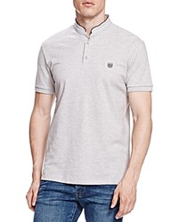 The Kooples New Shiny Pique Slim Fit Polo Gray