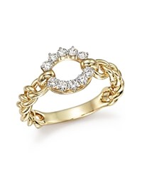 Bloomingdale's Diamond Circle Ring In 14K Yellow Gold .30 Ct. T.W. White Gold