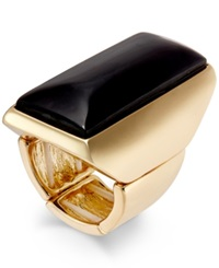 Thalia Sodi Gold Tone Jet Rectangular Stone Ring Only At Macy's