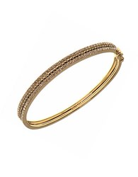 Judith Jack Crystal Marcasite And Goldplated Sterling Silver Bangle Bracelet