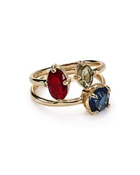 Abs By Allen Schwartz Mixed Stone Rings Set Of 2 Gold