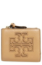 Tory Burch Women's 'Mini Harper' Leather Wallet Brown Vintage Camel