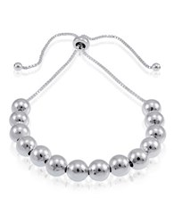 Lord And Taylor Sterling Silver Multi Ball Slider Bracelet