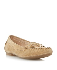 Linea Lorelly Suede Loafer Tan